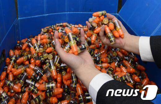 [사진]밀수된 전자담배 니코틴액상 9억어치