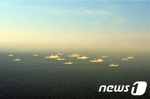 [사진]한미 연합 해상기동훈련 돌입