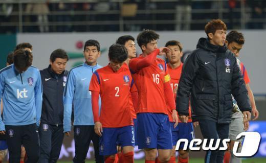 [사진]우즈벡전, 무승부 기록한 한국축구대표팀
