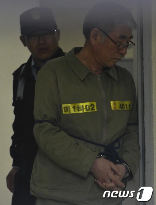 [사진]항소심 결심공판을 앞둔 세월호 선장