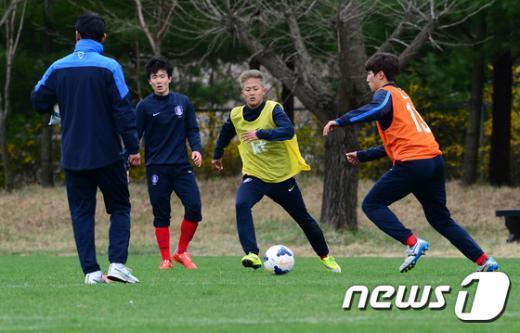 [사진]U-18 대표팀, 수원 제이에스컵 앞두고 맹훈련