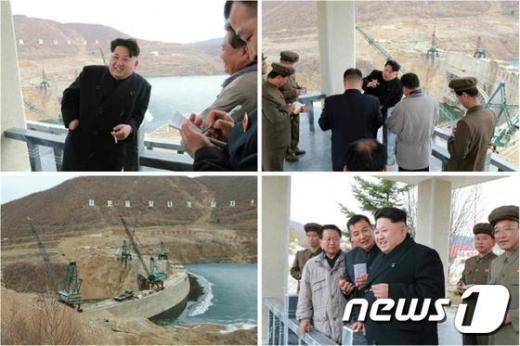 북한 김정은 노동당 제1비서가 백두산 선군청년발전소 건설 현장을 현지지도했다고 20일 조선중앙통신이 보도했다.(노동신문)© News1