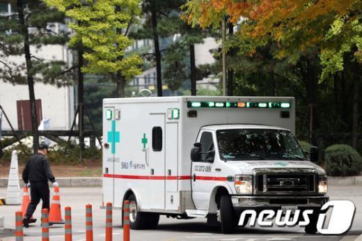 운행 중인 구급차./© News1