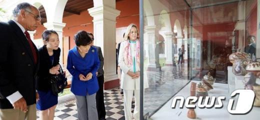 [사진]박 대통령, 페루 인류고고학 역사박물관 방문