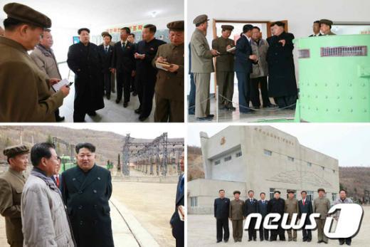 [사진]백두산선군청년발전소 건설장 방문한 김정은 위원장