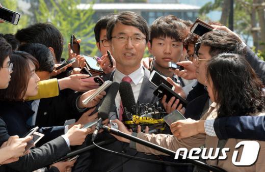 박준호 전 경남기업 비서실장./뉴스1 © News1 박세연 기자
