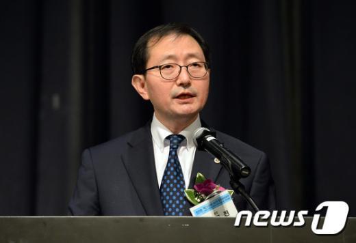 두 번째 임기를 시작하는 추무진 대한의사협회 회장./뉴스1 © News1 신웅수 기자