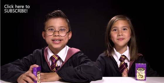 9살 꼬마 유튜브 스타 에반(왼쪽)과 그의 여동생 질리안/사진=에반튜브 영상 캡처