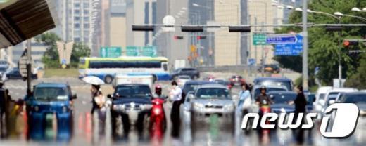 [사진]펄펄 끓는 서울도심