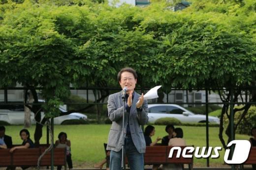 [사진]조희연 교육감, 고교 자유학년제 '오디세이학교' 입학식 참석