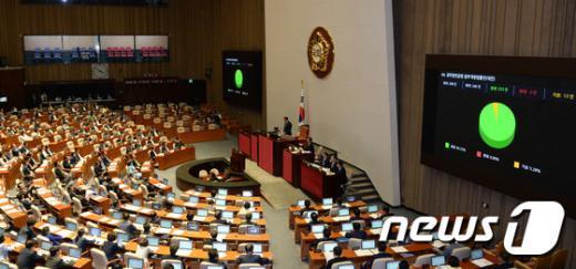 29일 새벽 열린 국회 본회의 © News1 허경 기자