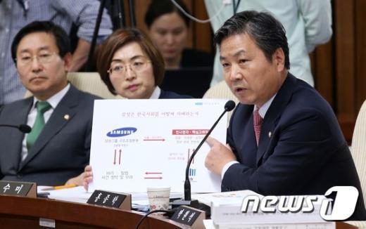 [사진]'삼성 X파일' 의혹 질의하는 홍종학 의원