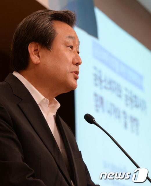 [사진]김무성 대표  '금융소비자 보호' 정책세미나 축사