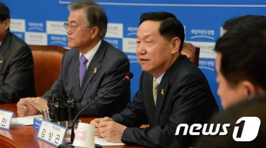 [사진]모두발언하는 김상곤 혁신위원장