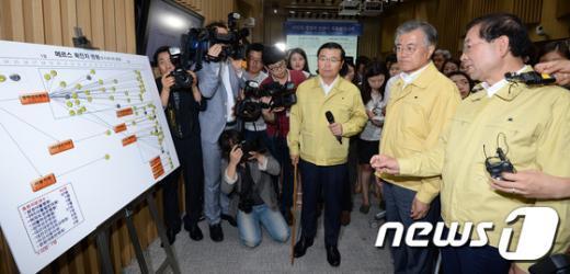 [사진]문재인-박원순 '메르스 대책 논의'