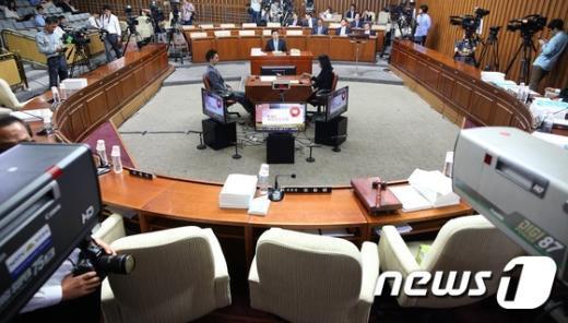 [사진]파행 빚는 황교안 청문회