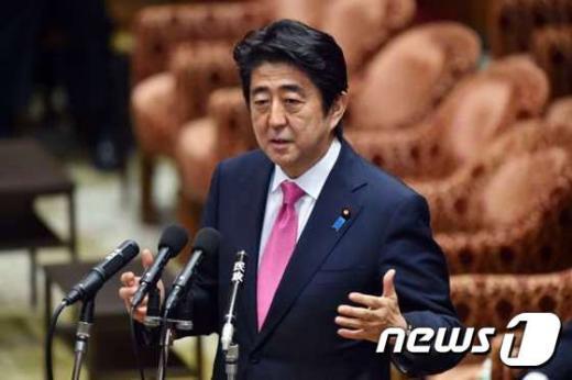 아베 신조 일본 총리. © AFP=News1 2015.05.29/뉴스1 © News1