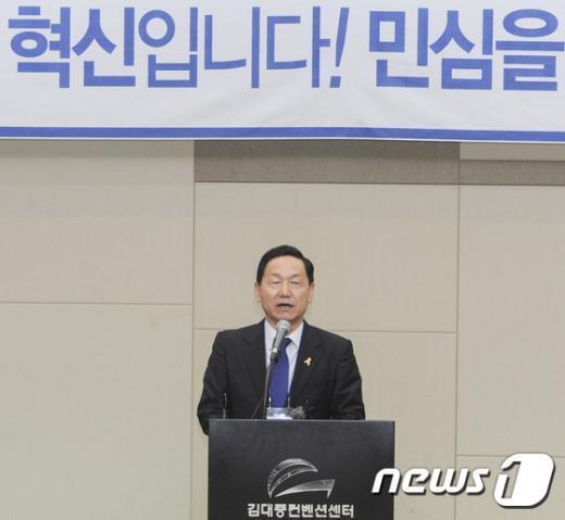새정치민주연합 김상곤 혁신위원장. 뉴스1 © News1 황희규 기자