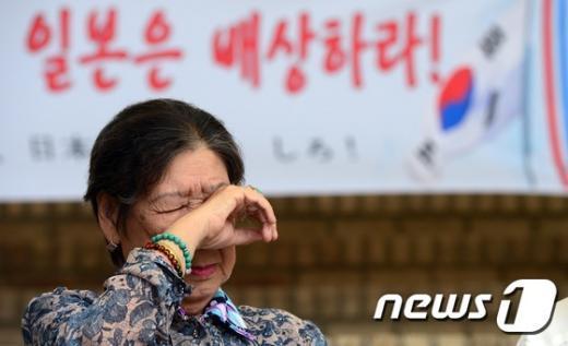 [사진]일본군 '위안부' 피해 할머니의 눈물