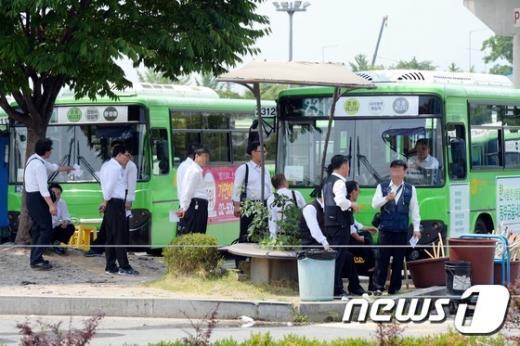 [사진]서울시버스노조 '25일 총파업 예고'