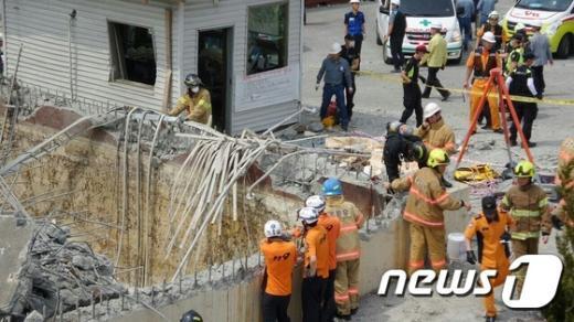 [사진]울산 한화케미칼 공장 폭발 사고...4명 사망