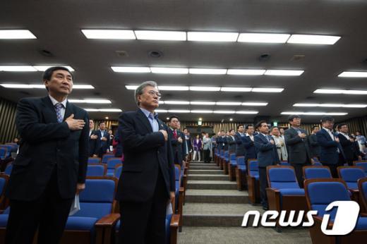 [사진]새정치민주연합 긴급 의원총회