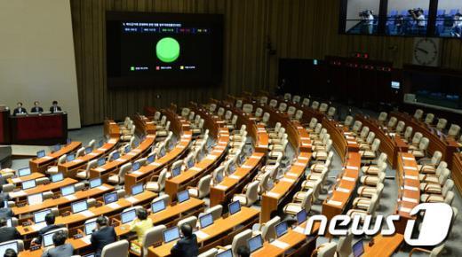 [사진]與, 본회의 단독 재개… 민생법안 처리