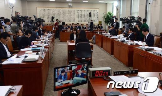 [사진]김현웅 법무부 장관 후보자 인사청문회