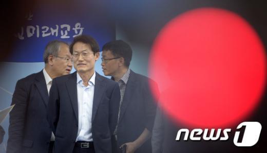 [사진]조희연 교육감 '자사고 취소 청문 파행, 해결 방법은'
