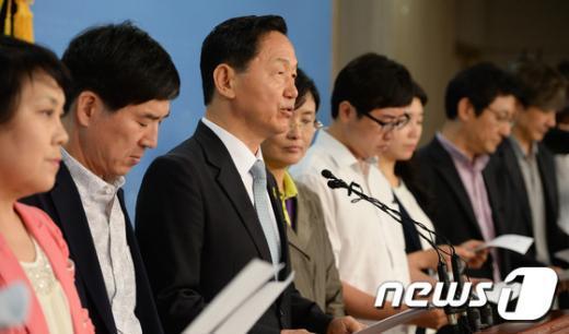 [사진]김상곤 '최고위원·사무총장제 폐지'