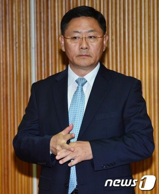 [사진]자사고 평가 청문회 참석한 원유신 세화여고 교장