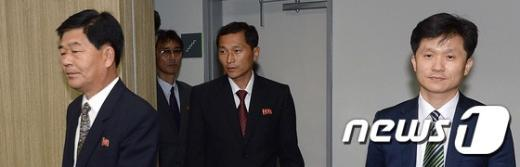 [사진]회담장 향하는 남과 북