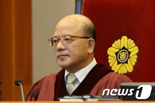 박한철 헌법재판소장. © News1 정회성 기자