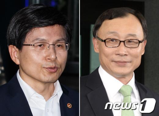 황교안 국무총리(왼쪽), 채동욱 전 검찰총장(오른쪽)./뉴스1 © News1