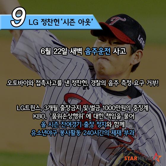[카드뉴스] 2015 KBO리그 '전반기 결산'- KBO리그 이슈 'TOP 10' -