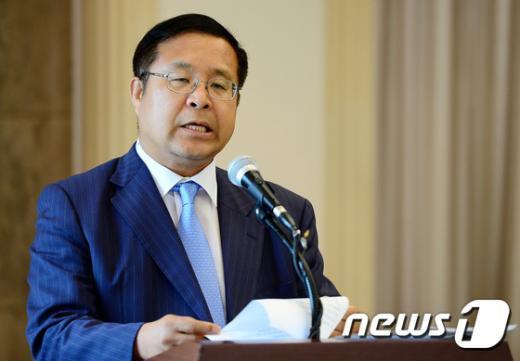 [사진]개회사하는 김영배 한국경영자총협회 상임부회장