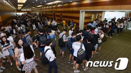 [사진]2016 수시 대입정보박람회 '줄을 서시오'