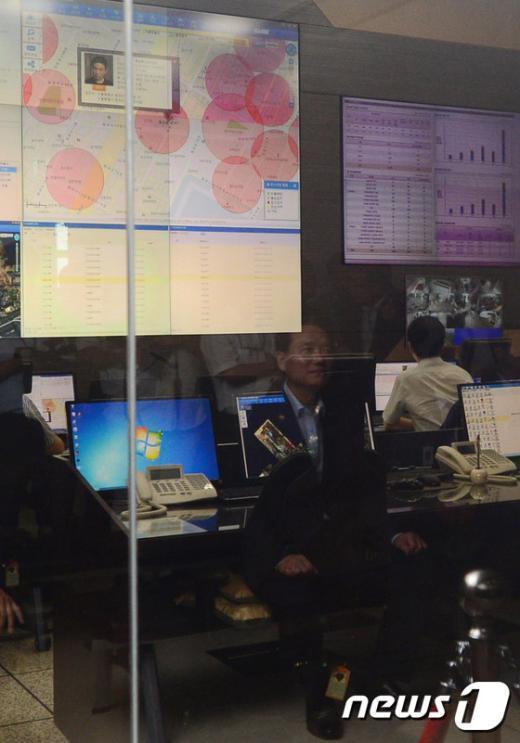 [사진]김현웅 장관, 위치추적관제센터 방문