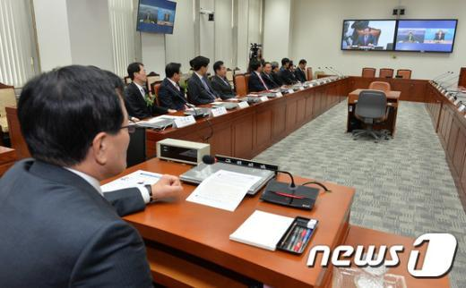 국회의사당 영상회의실./뉴스1 © News1 박세연 기자