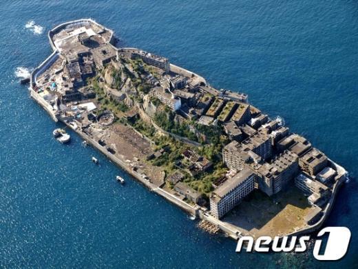 일제 강점기 당시 조선인 강제 징용의 한이 서린 나가사키(長崎)현의 하시마(端島·일명 군함도) 전경. © News1