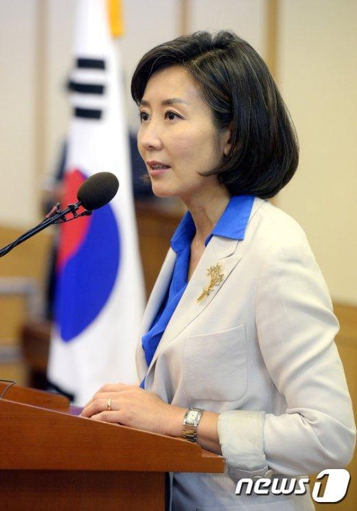 [사진]축사하는 나경원 외통위원장