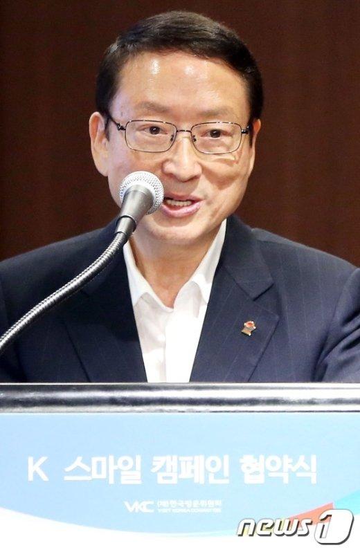 [사진]인사말하는 남상만 회장