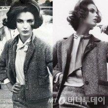 샤넬 의상을 입은 1960년대 모델 모습/사진=보그