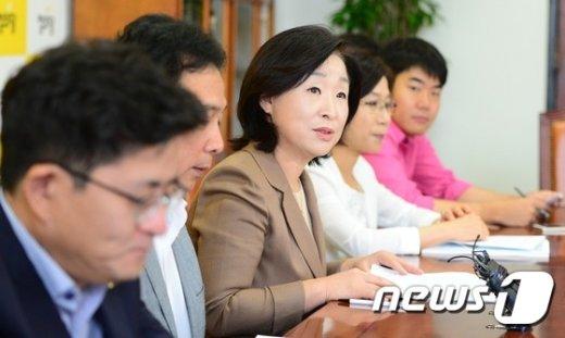 [사진]정의당 대표단-의원단 긴급연석회의