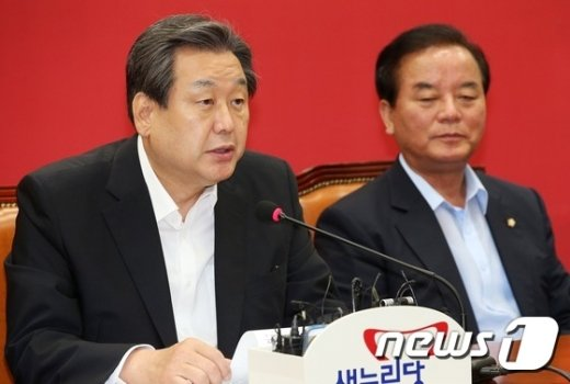 [사진]노사정 대화 촉구하는 김무성 대표
