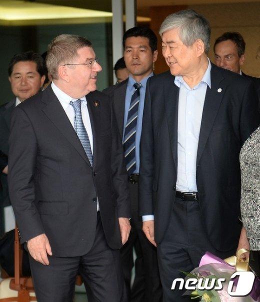 [사진]평창 올림픽 논의 위해 방한한 토마스 바흐 IOC 위원장
