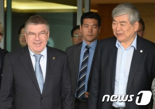 [사진]평창올림픽 논의 위해 방한한 토마스 바흐 위원장