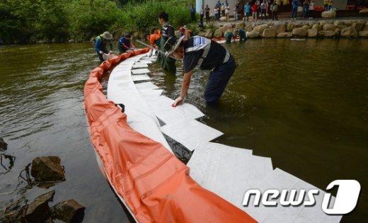 [사진]민·관·군 합동 유해물질 제거 대응훈련
