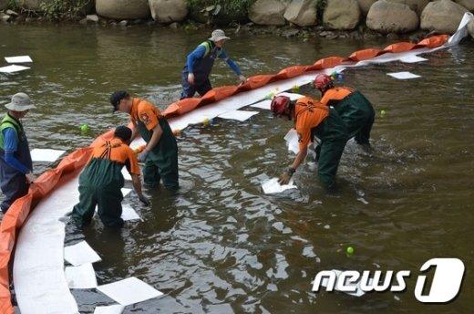 [사진]수질오염사고 합동 대응훈련