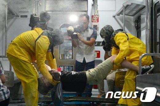 [사진]독가스 및 폭발물 테러 대비 훈련